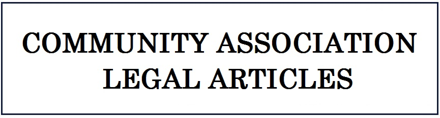 Community Association Legal Articles